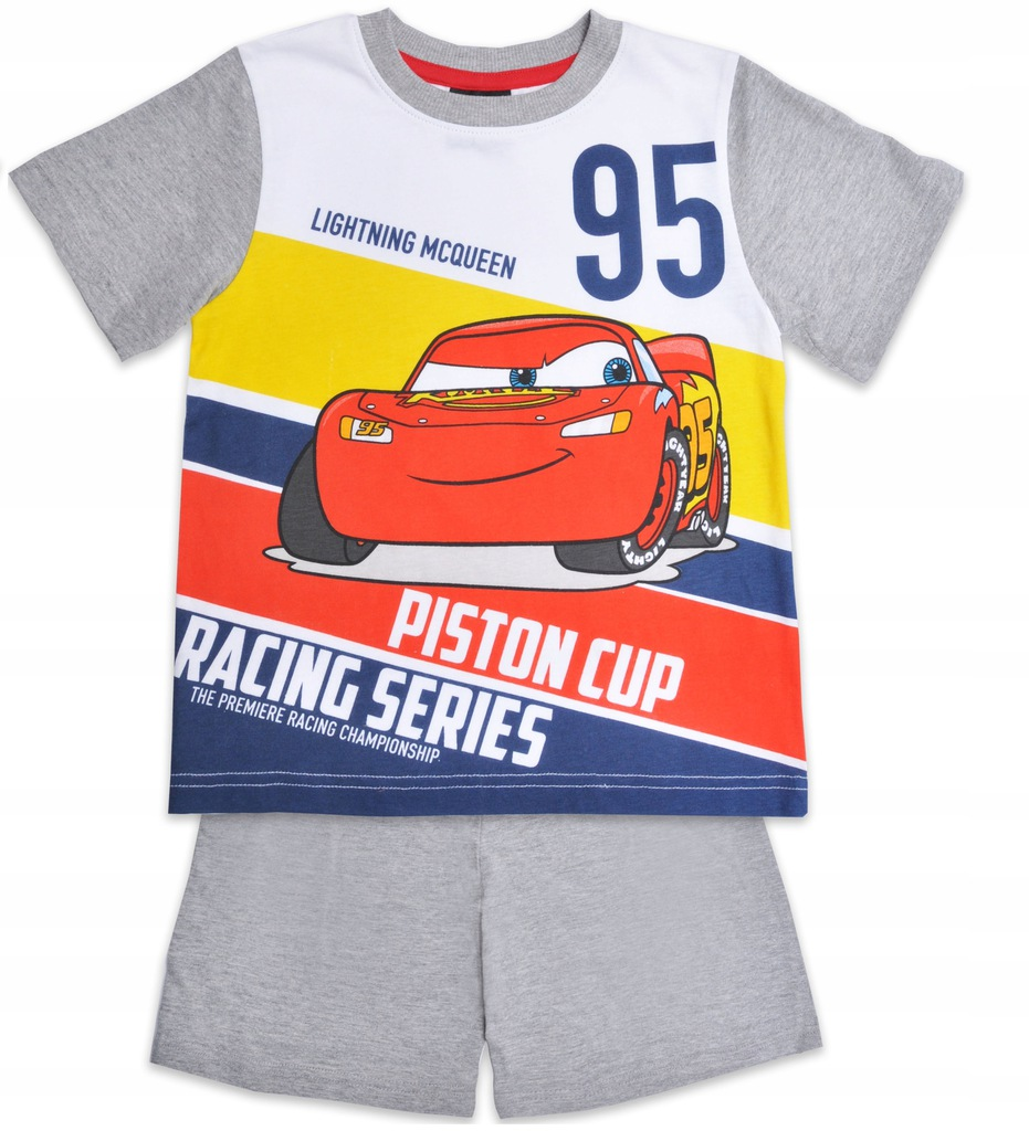 CARS DISNEY piżama komplet szary 122