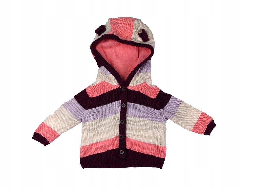 Sweterek w paski Lupilu bawełna 50/56 cm