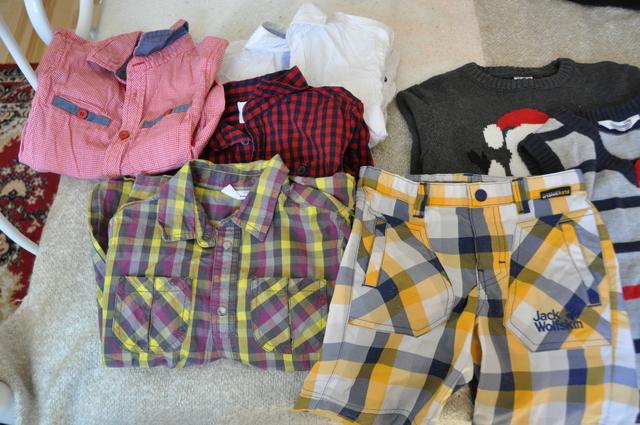 Piękny zestaw ubrań dla chłopca 110