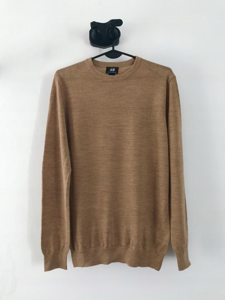 H&M sweter wełniany merino wool oversize S M L