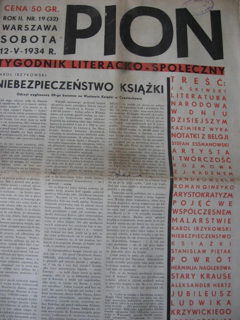 PION Tygodnik Literatura narodowa 19/1934