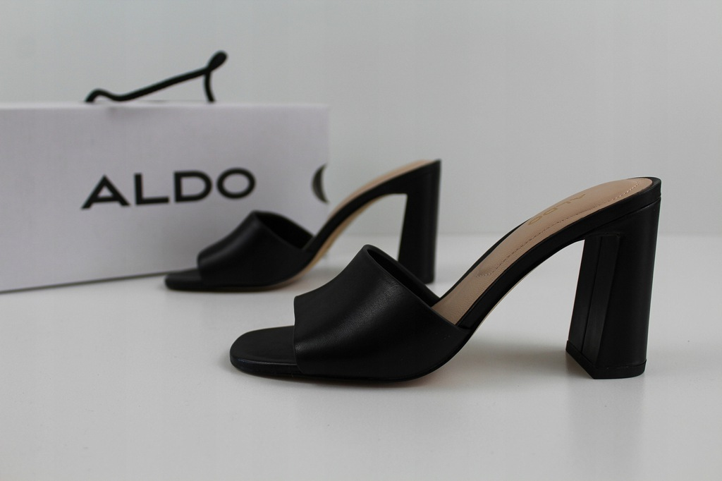 Eleganckie skórzane klapki ALDO roz.35 (BK108)