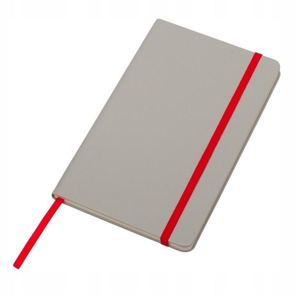 Notatnik 130x210/80k kratka Cartagena, czerwony/sz