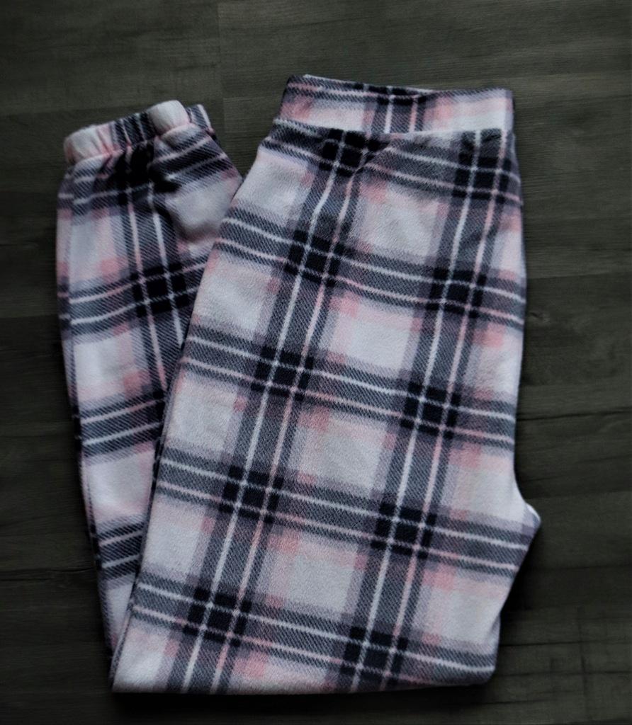 CUBUS polarowe piżamowe spodnie w kratkę XL