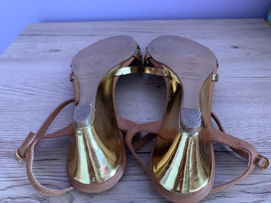 KAZAR Sandały ażurowe złote rozm 37 8413848519 oficjalne