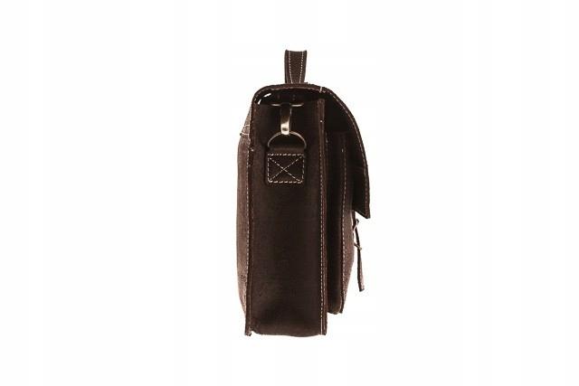 Skórzana torba na ramię teczka TC5 Brown