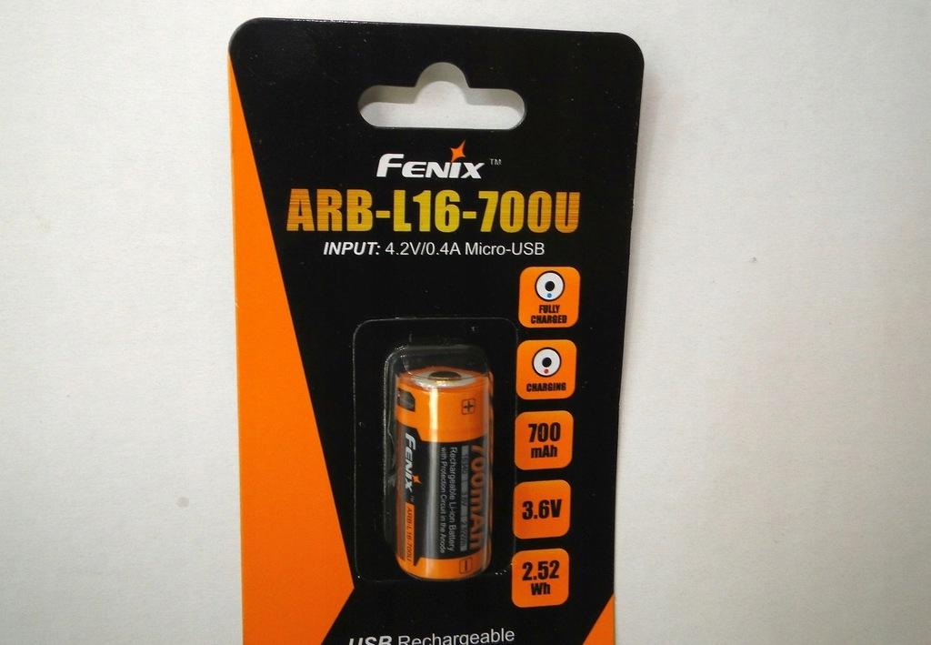 Akumulator Fenix ARB-L16U 16340 700 mAh 3,7 V USB