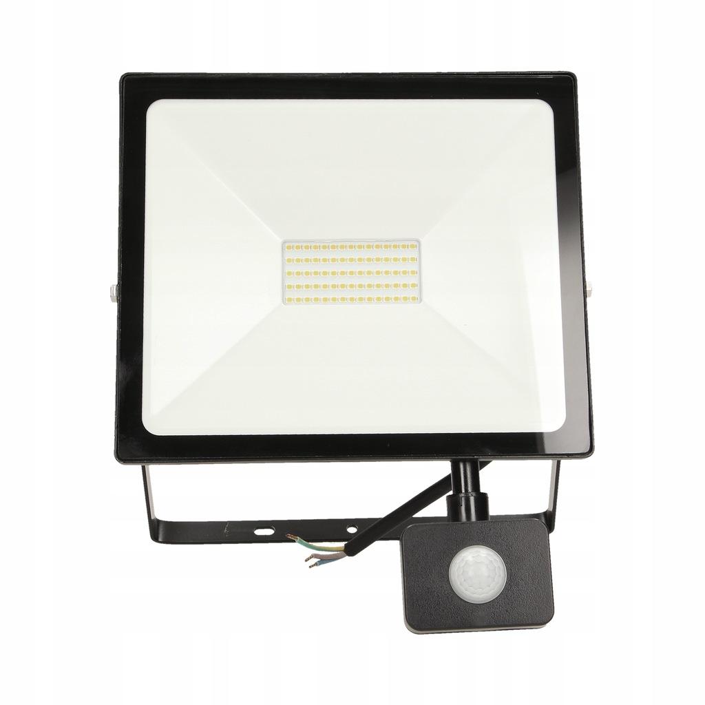 ALLED 50W Naświetlacz LED z PIR, 4000lm, IP44, 400