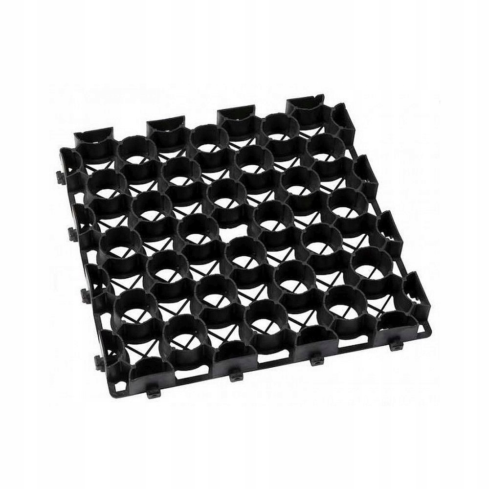 Kratka trawnikowa czarna 395mm x 395mm h 35mm