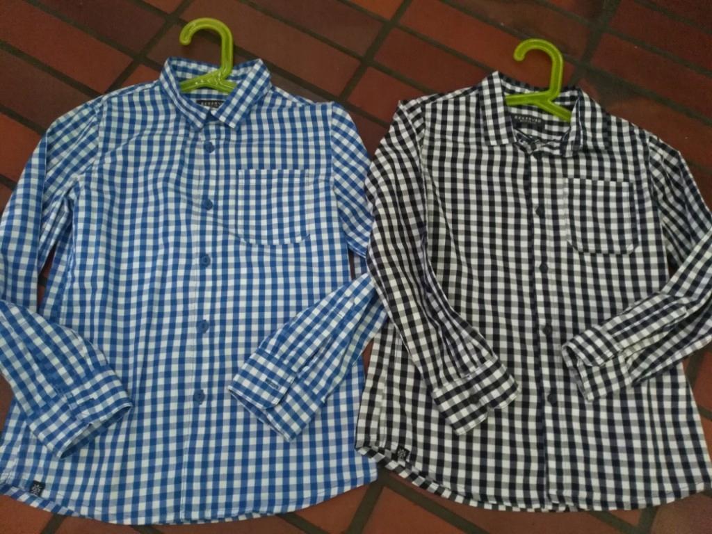 Reserved koszula slim w kratke r. 128 2 szt.