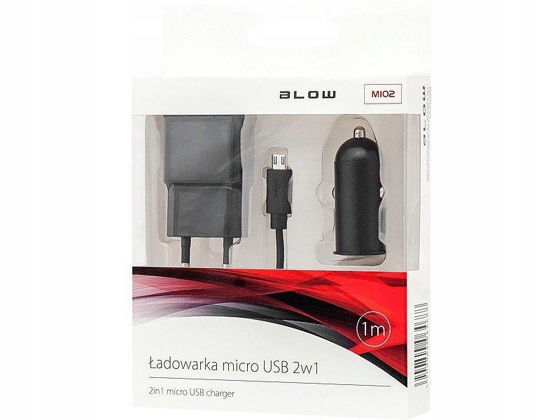 BLOW Ładowarka +sam.USB 2,1A+kabel microUSB