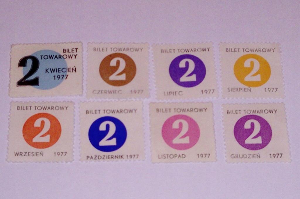 KARTKI NA CUKIER 1977r