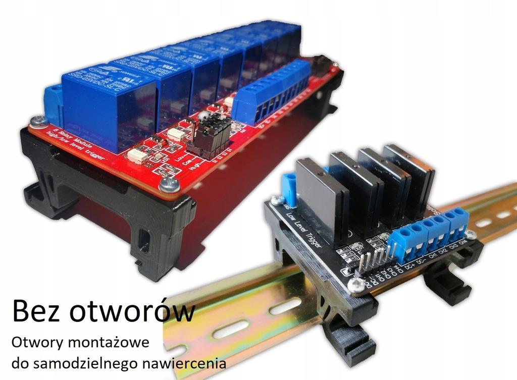 Uchwyt na szynę DIN dla Płytki PCB, laminatu