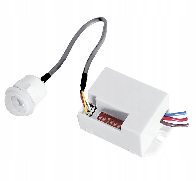 Czujnik Ruchu Mini PIR 230V DC LED Zabudowa
