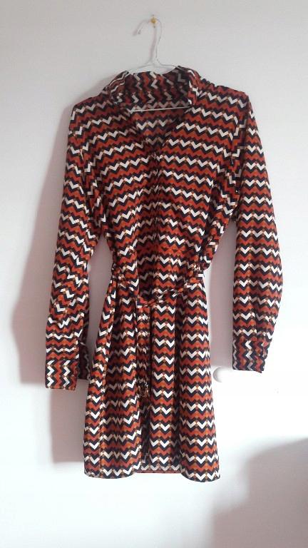 Sukienka wzor lata 70 szmizjerka Asos 40