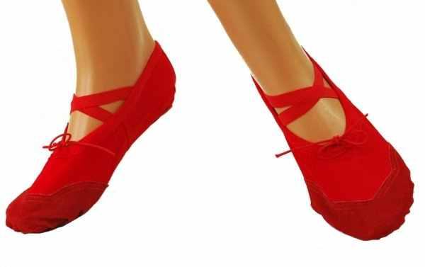 Baletki mat-skórzane Free Dance roz. 26 - czerwone