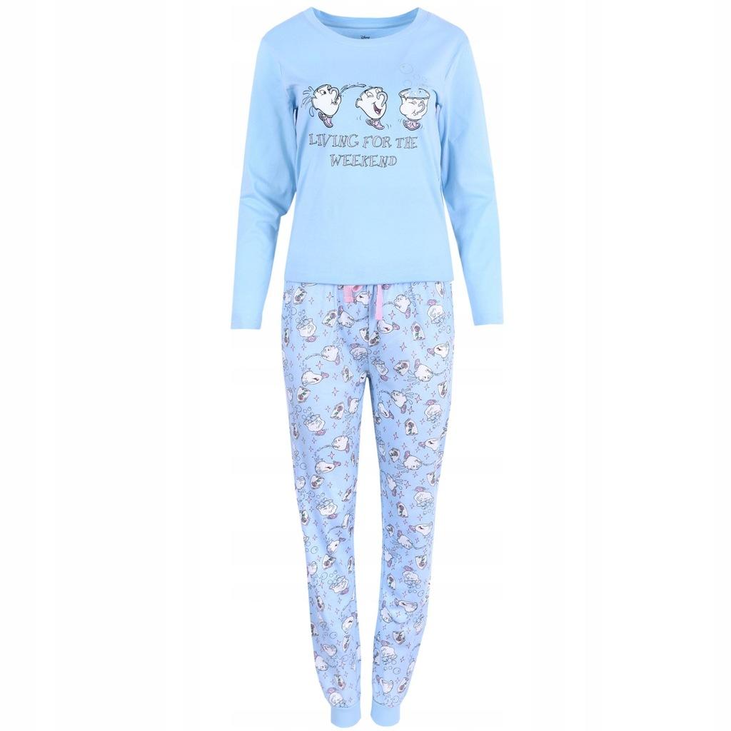 Błękitna piżama damska Piękna i Bestia M