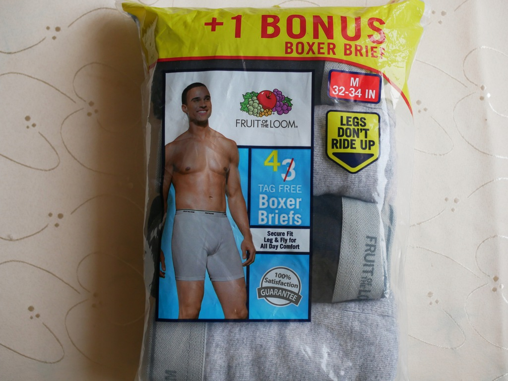 Boxerki fruit of the loom rozm.M 4-PACK