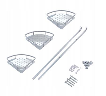 3-warstwowy trójkątny wózek prysznicowy półk