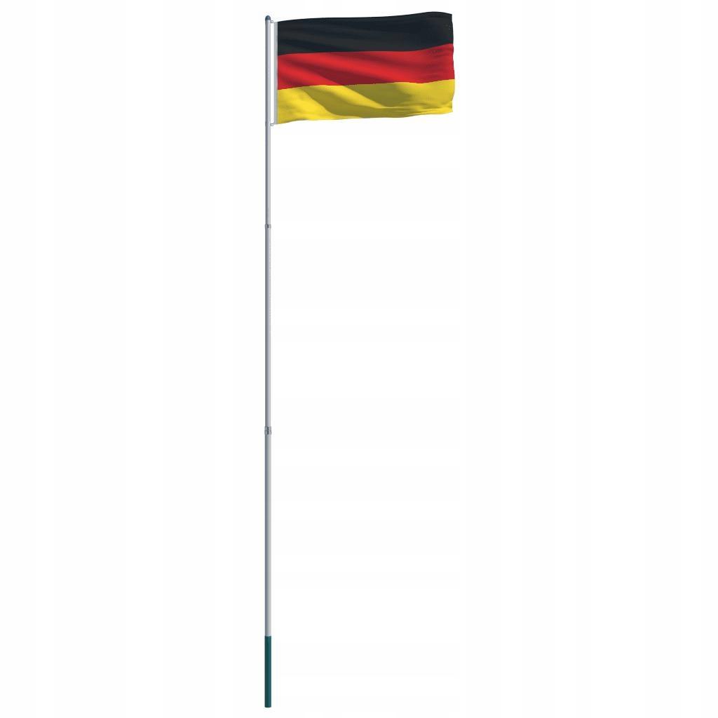 Flaga Niemiec Z Aluminiowym Masztem 6 m