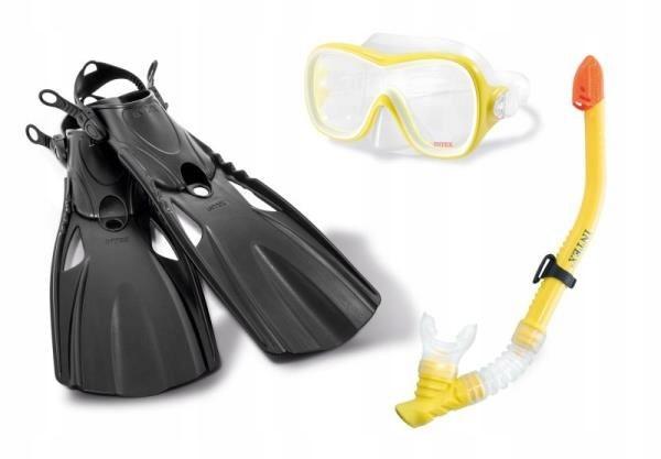 Zestaw do nurkowania Wave Rider w siatce od 8lat 5