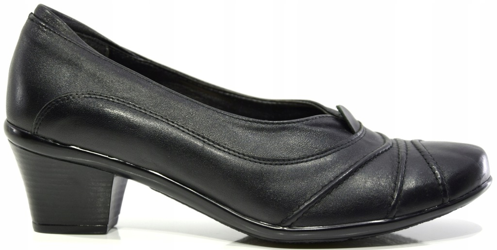 Półbuty damskie skórzane czarne Galant 605 R.37