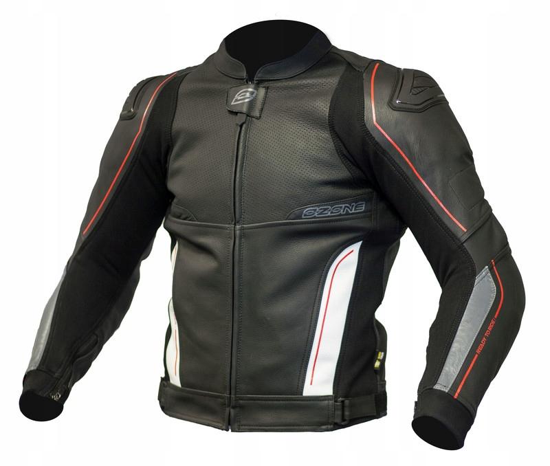 OZONE VOLT BLACK WHITE kurtka motocyklowa gratisy