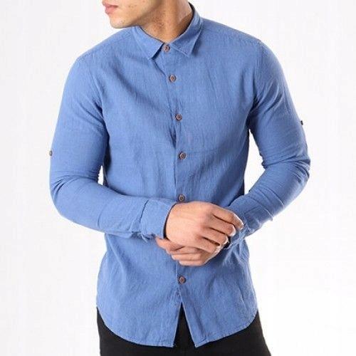 Tony Moro Koszula Męska Niebieska Elegancka XL 7562254115  r0uki