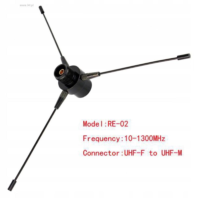 Black RE-02 dokładka mobilna UHF-F 10-1300mhz