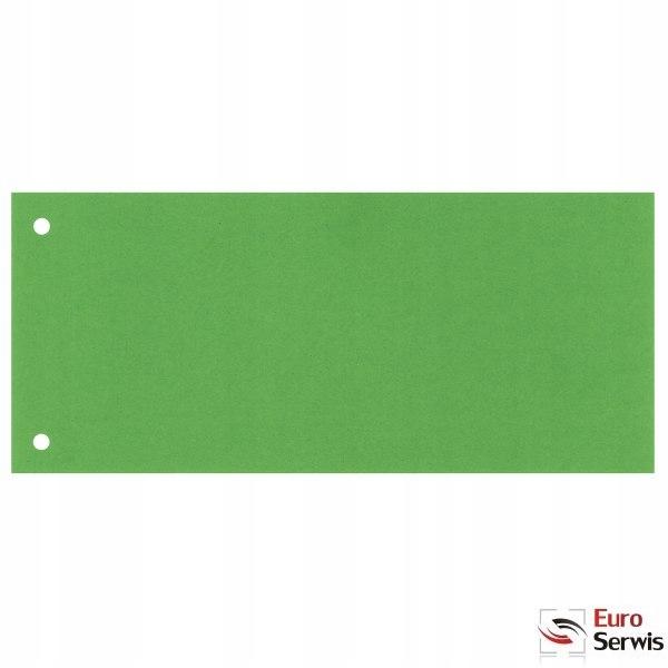 Przekładki kartonowe 1/3 A4 100 sztuk zielone 2099