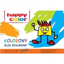 Blok rysunkowy Happy Color kolor A3,80g,15ark. 304