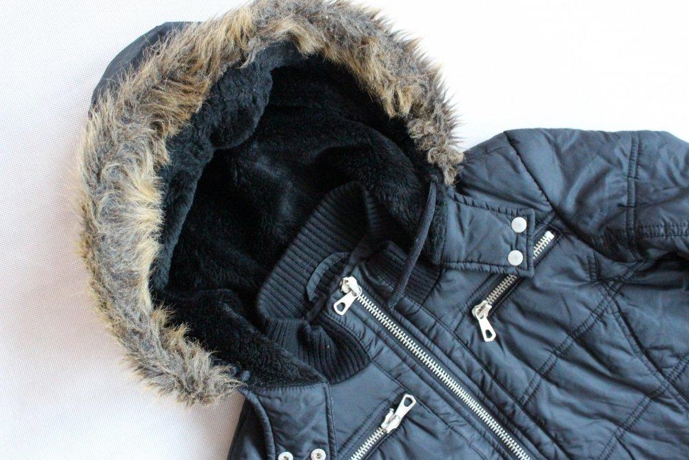 zlote pikowane kurtki z kapturem pimkie