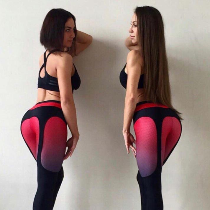 Legginsy Leginsy z siateczką Sexy Push UP Fitness