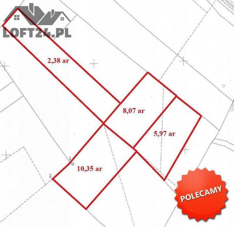 Działka na sprzedaż Lubin, lubiński, 2677,00 m²