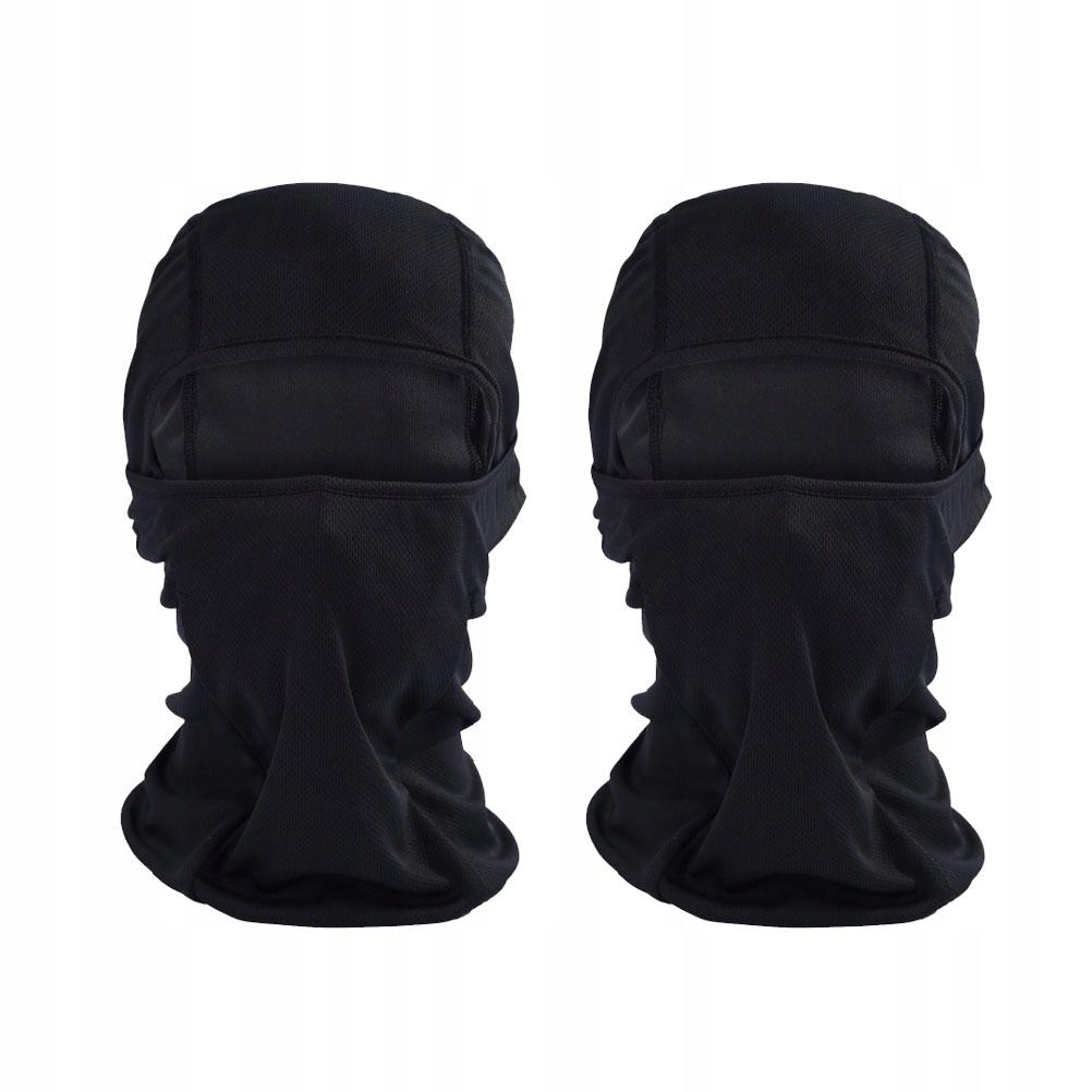 2 sztuk czarna wiatroszczelna maska narciarska z