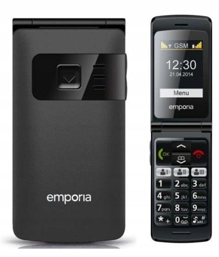 Emporia FlipBasic F220 Czarny Klapka Duże klawisze