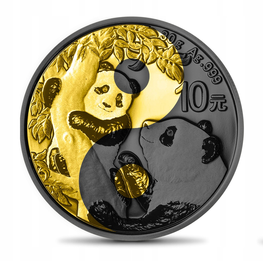 CHINA 2021 - 10Y Panda Yin Yang Gold Ruthenium