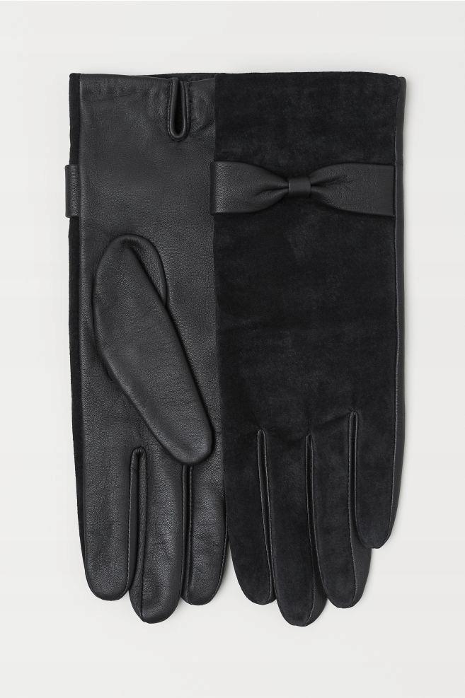 H&M, 34/XS, zamszowe rękawiczki, Premium