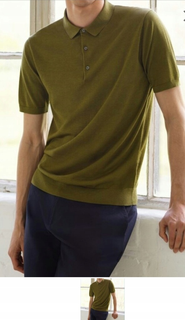 Sweter polo COS jedwab M