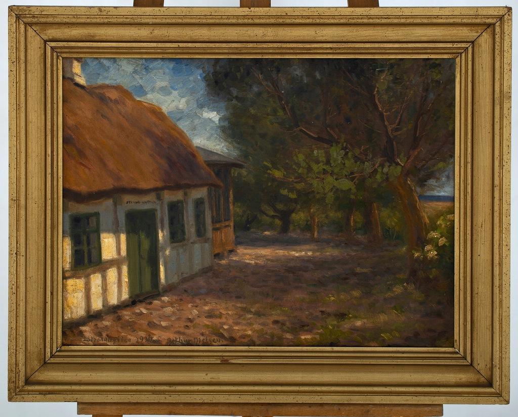 ARTHUR NIELSEN (1883-1946) PEJZAŻ 1919 STARY OBRAZ