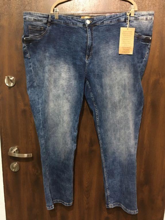 Spodnie jeansy 56 58 nowe elastyczne wycierane