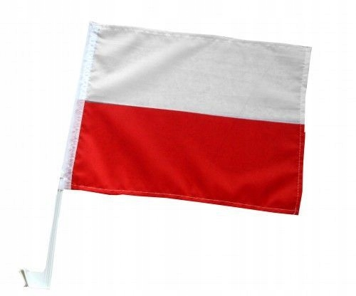 FLAGA SAMOCHODOWA POLSKI CHORĄGIEWKA 45x30cm