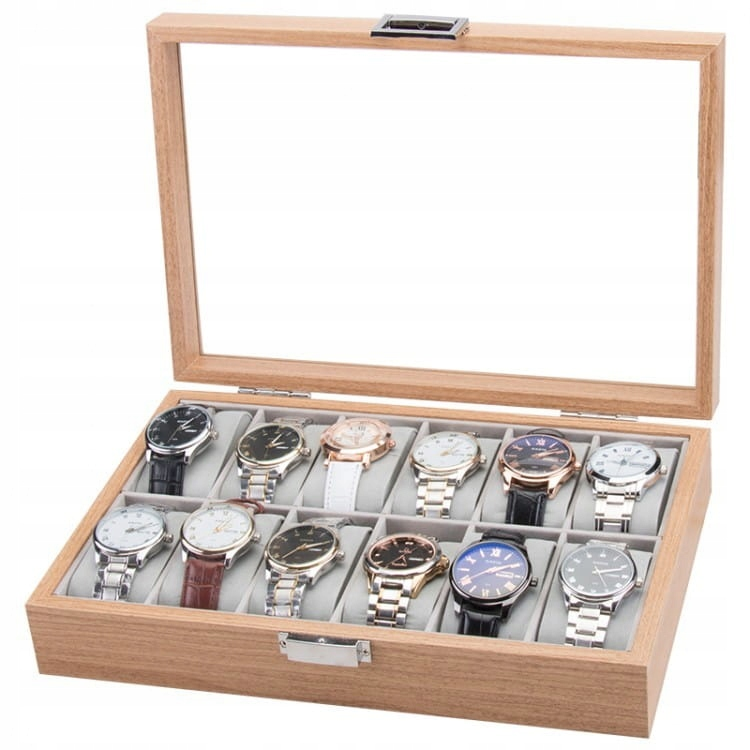 Szkatułka etui na 12 zegarków PDMDF06