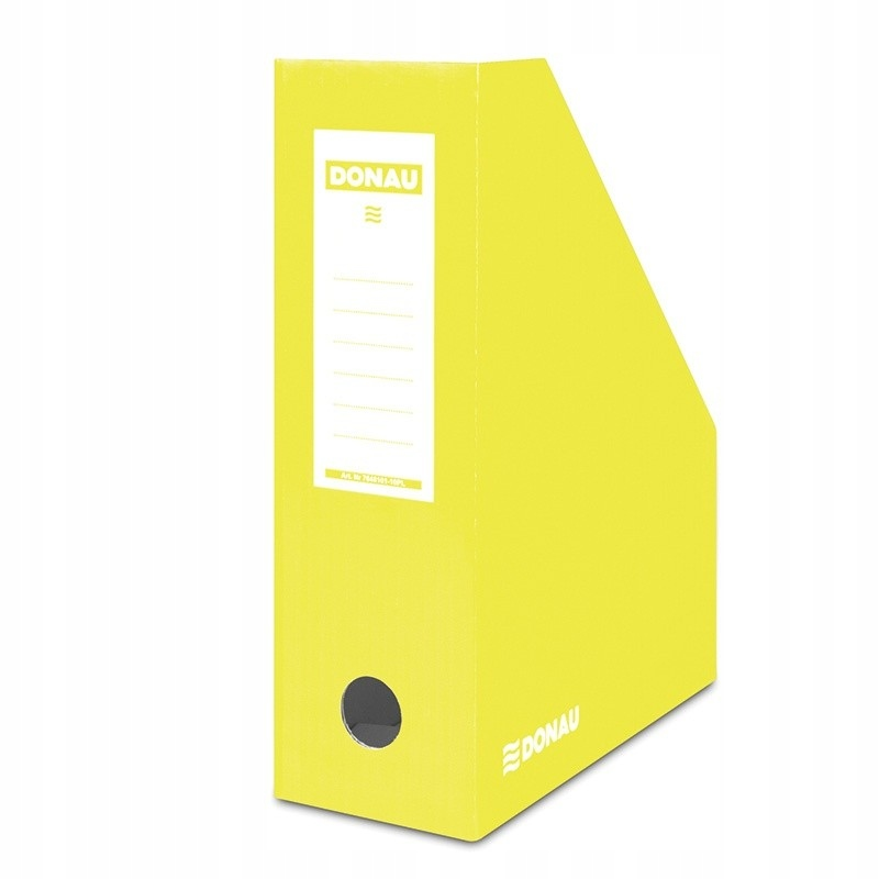 Pojemnik na dokumenty karton ścięty A4/100mm żółty