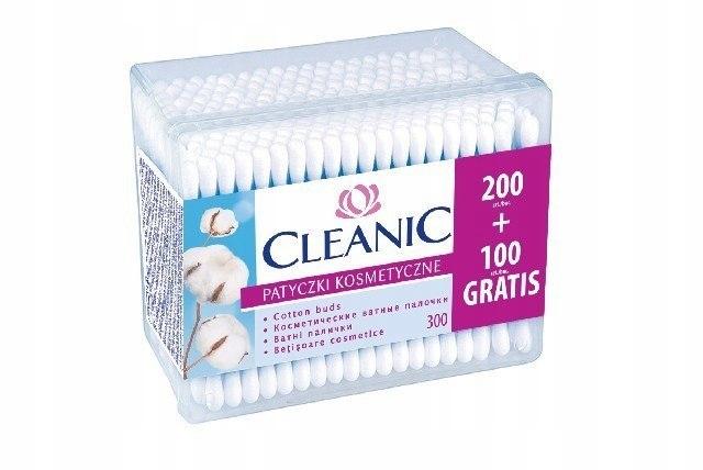 Cleanic Patyczki higieniczne Pudełko kwadratowe 1o