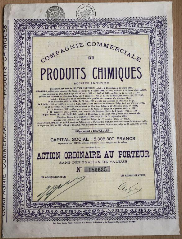 Produits Chimiques - 1926 r.