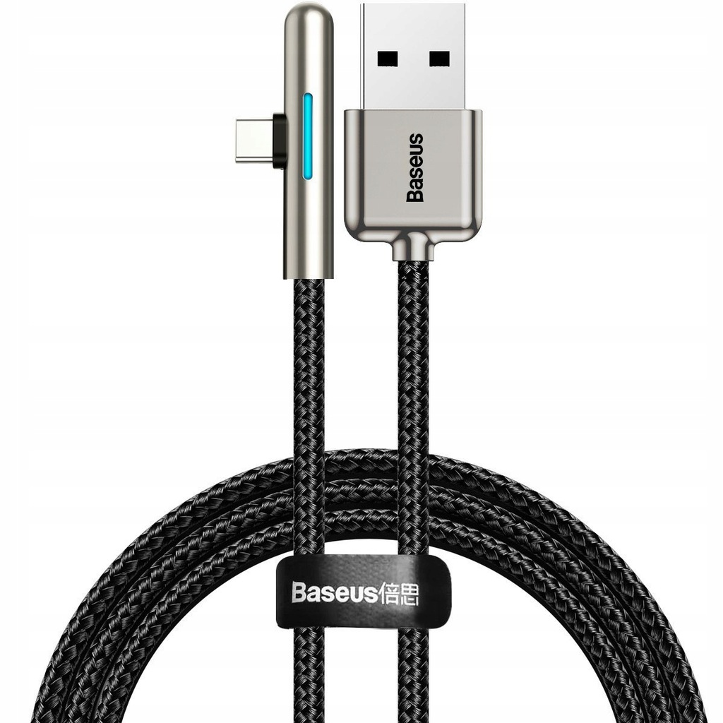 Kabel kątowy płaski USB-C Baseus Iridescent, Hua