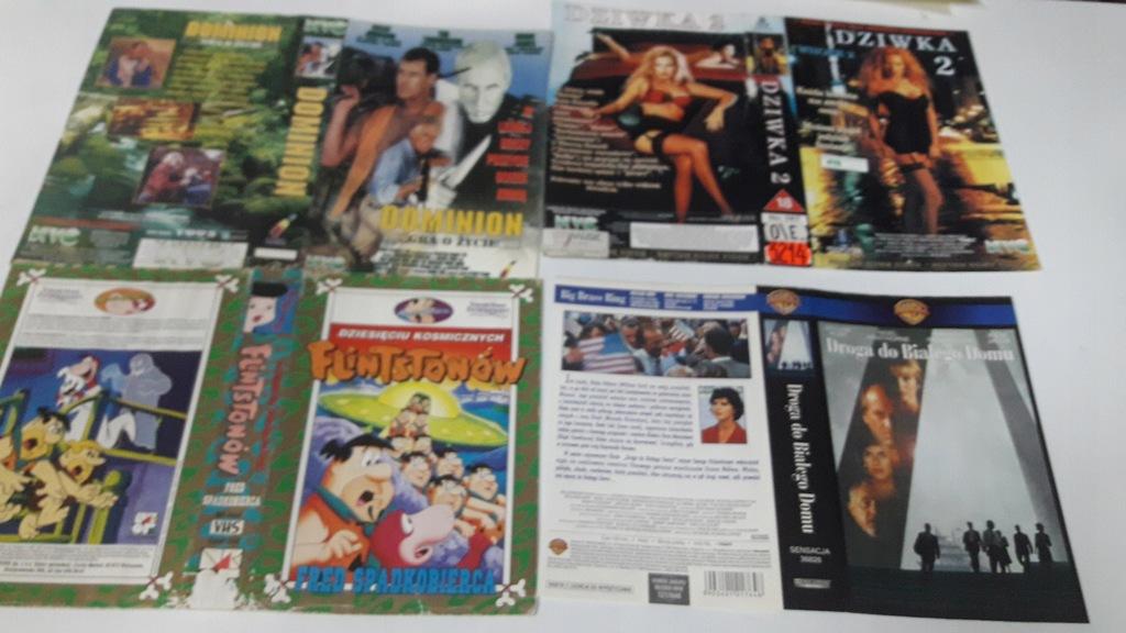 A-0951 pakiet 8 okładek kaset vhs