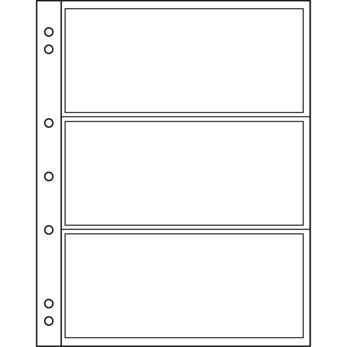 Leuchtturm - strona Numis 3 C - dzielona na 3
