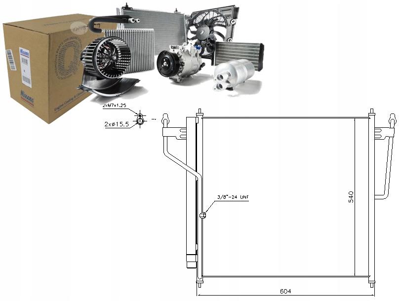 SKRAPLACZ KLIMATYZACJI NISSAN TITAN 5.6 Flex-Fuel
